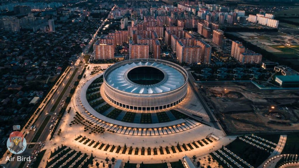 Аэросъемка - Стадион Краснодар - Парк Голицына
